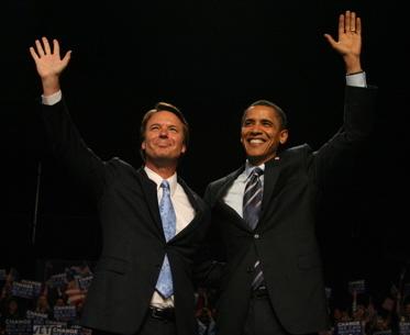 Edwards en Obama