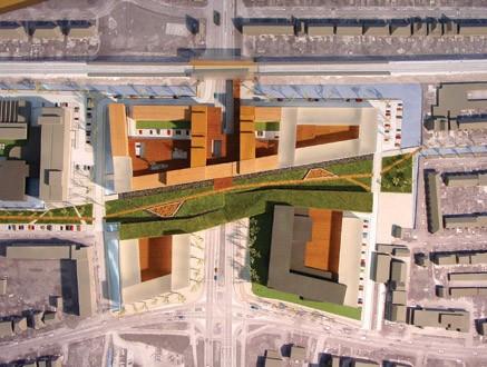 Maquette plan Mecanoo voor campuspark