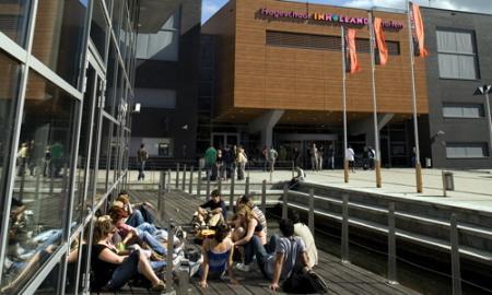 De huidige campus van hogeschool INHOLLAND