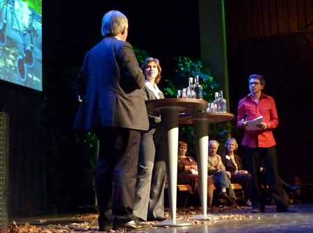 Rijksbouwmeester Liesbeth van der Pol en rijksadviseur Wim Eggenkamp